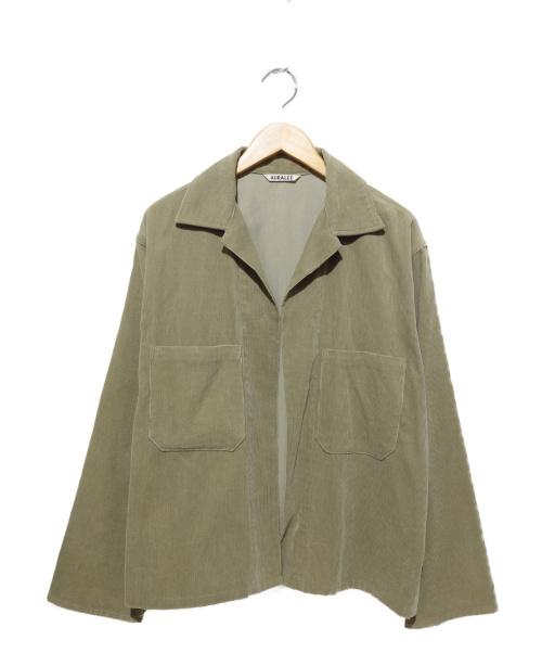AURALEE(オーラリー)AURALEE (オーラリー) WASHED CORDUROY SHIRTS JACKET ベージュ サイズ:4の古着・服飾アイテム