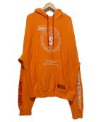 HERON PRESTON(ヘロンプレストン)の古着「プルオーバーパーカー」|オレンジ