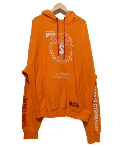 HERON PRESTON(ヘロンプレストン)HERON PRESTON (ヘロンプレストン) プルオーバーパーカー オレンジ サイズ:Lの古着・服飾アイテム