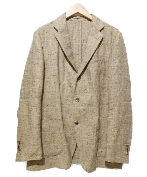 LARDINI(ラルディーニ)LARDINI (ラルディーニ) リネンシルクジャケット ベージュ サイズ:50の古着・服飾アイテム