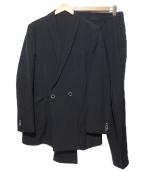 THE Sakaki(ザ サカキ)の古着「ダブルジャケットセットアップ」|ブラック