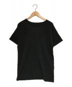 HOMME PLISSE ISSEY MIYAKE(オムプリッセイッセイミヤケ)の古着「プリーツTシャツ」|ブラック