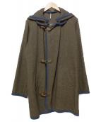MS BRAQUE(エムズ ブラック)の古着「DETACHABLE HOOD BLANKET COAT」|オリーブ