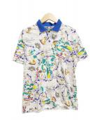 Christian Dior Sports(クリスチャンディオールスポーツ)の古着「[古着]総柄半袖ポロシャツ」|ホワイト