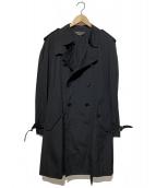 COMME des GARCONS HommePlus(コムデギャルソンオムプリュス)の古着「トレンチコート」 ブラック