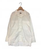 YLEVE(イレーヴ)の古着「オープンカラーシャツ」|ホワイト