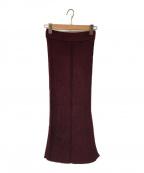 TAN(タン)の古着「GLOSSY SKIRT スカート」 ボルドー