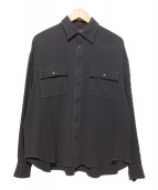 Name.(ネーム)の古着「COTTON SNAP FRONT SHIRT シャツ」|グレー