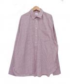 Name.(ネーム)の古着「シャイニーツイルオーバーサイズシャツ」 ピンク