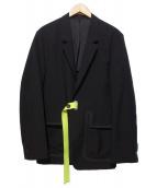 Name.(ネーム)の古着「オフスケールウールテーラードジャケット」|ブラック