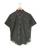 CDG JUNYA WATANABE MAN(コムデギャルソン ジュンヤワタナベマン)の古着「切替S/Sシャンブレーシャツ」 グレー