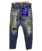 CDG JUNYA WATANABE MAN(コムデギャルソンジュンヤワタナベマン)の古着「リメイクデニムパンツ」|インディゴ