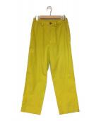 ISSEY MIYAKE MEN(イッセイミヤケメン)の古着「カラーワイドパンツ」|イエロー