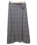 SHIPS(シップス)の古着「ウールチェックスカート」|グレー