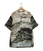 Soe(ソーイ)の古着「転写オープンカラーシャツ」 グレー