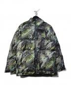 Bohemians(ボヘミアンズ)の古着「パフジャケット 総柄中綿ジャケット」 ブラック