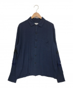 TOGA VIRILIS()の古着「袖刺繍シャツ」|ネイビー