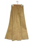 CLANE(クラネ)の古着「MAXI FLARE SKIRT スカート」|ベージュ