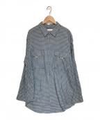 ROTOL(ロトル)の古着「フラップポケットシャツ」 ブルー