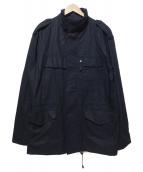 HEAD PORTER PLUS(ヘッドポータープラス)の古着「ミリタリージャケット」|ブラック