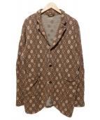 KAPITAL(キャピタル)の古着「綿麻総柄ジャケット」|ブラウン