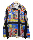 C.E(シーイー)の古着「The fate shirt jacket シャツ ジャケッ」|ブルー×ブラック