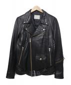 SUB-AGE.(サベージ)の古着「ダブルライダースジャケット」|ブラック