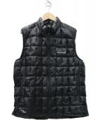 mont-bell(モンベル)の古着「プラズマ1000 ダウンベスト」|ブラック
