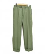 KAIKO(カイコー)の古着「トラウザーパンツ」|グリーン