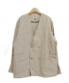 JACKMAN(ジャックマン)の古着「作務衣ジャケット」 アイボリー