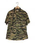 RHC Ron Herman(アールエイチシー ロンハーマン)の古着「タイガーカモシャツ」|オリーブ