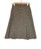 Maison Margiela(メゾンマルジェラ)の古着「チェックスカート」|ブラウン