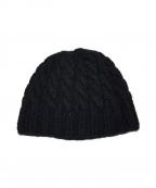 DRAWER(ドゥロワー)の古着「カシミヤニット帽」 ブラック