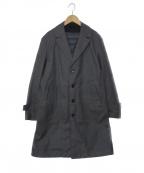 KATHARINE HAMNETT(キャサリンハムネット)の古着「ダウンライナー付ステンカラーコート」 グレー