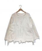 UNUSED()の古着「デニムカットジャケット」|ホワイト
