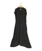 ARGUE(アギュー)の古着「リネンワンピース」|ブラック