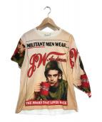 ()の古着「プリントTシャツ」|ピンク×ホワイト