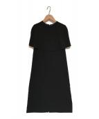 ()の古着「秋の花びらのドレス」 ブラック