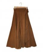 ATON(エイトン)の古着「ラップスカート」 ブラウン