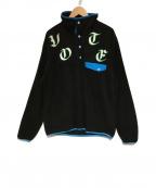VOTE MAKE NEW CLOTHES(ヴォートメイクニュークローズ)の古着「プルオーバーフリースジャケット」|ブラック