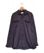 ()の古着「オープンカラーシャツ」|パープル
