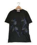 ()の古着「刺繍Tシャツ」|ブラック