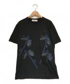 TOGA VIRILIS()の古着「刺繍Tシャツ」|ブラック