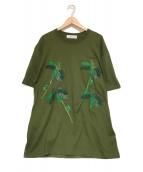 TOGA VIRILIS(トーガヴィリリース)の古着「刺繍Tシャツ」|オリーブ