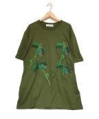TOGA VIRILIS()の古着「刺繍Tシャツ」|オリーブ