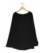 YOKO CHAN(ヨーコチャン)の古着「ポンチョワンピース」|ブラック