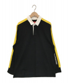 Supreme(シュプリーム)の古着「Reflective Sleeve Stripe Rugby」|ブラック