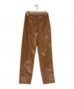SAYAKA DAVIS(サヤカ デイヴィス)の古着「エコレザーパンツ」|ブラウン