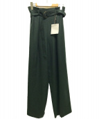 ()の古着「ベルテッドワイドパンツ」 グリーン