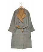 eimee law(エイミーロウ)の古着「リバーシブルメロウ仕立てトレンチコート」|ベージュ×グレー